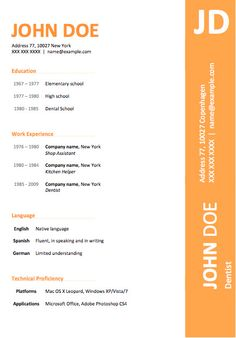 Free Resume Templates Resume Outline Word Professional Resume
